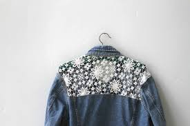 Image result for crochet jean jackets