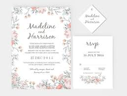 wedding invitation stationary set diy editable ms word template wedding invitation stationary set diy editable ms word template rustic floral peach
