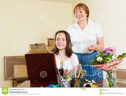 mentor assesses the work student stock photo image  mentor assesses the work student