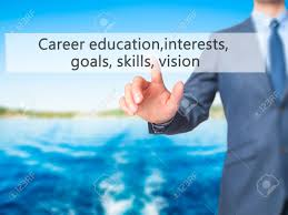 career education interests goals skills vision businessman career education interests goals skills vision businessman press on digital screen