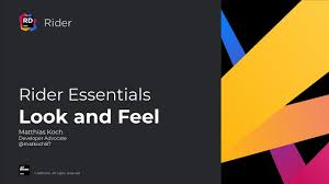 Customize the Look and Feel - <b>Rider</b> Essentials - YouTube