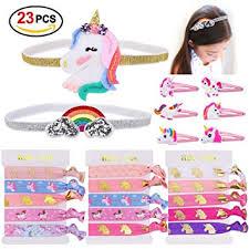Konsait <b>Unicorn Party Favors</b>, <b>Unicorn</b> Elastic Hair Ties, Hair Clips ...