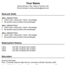 resume examples  how to create a resume template creative own    resume examples  your name street address city state province relevant skills how to create a