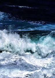 Dark Blue <b>Waves Print</b>, <b>Ocean</b> Photography, Navy Blue Wall Art ...