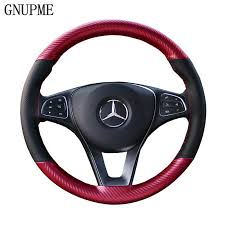 <b>GNUPME</b> DIY <b>Artificial Leather</b> Steering Wheel Cover Hand Stitched ...