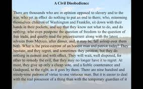 henry david thoreau civil disobedience henry david thoreau civil disobedience