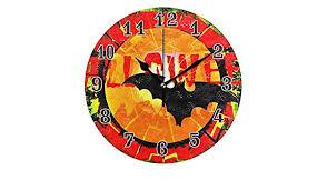 MOFEIYUE Halloween Bat Pattern Wall Clock, Silent ... - Amazon.com