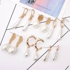 <b>2019 Vintage Irregular</b> Freshwater Pearl Dorp Earrings For Women ...