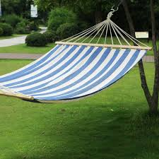 blue striped patio furniture wayfair tree hanging suspended indooroutdoor hammock bed with spreader bar by adecotrading chaggie downunder february 2011 evening