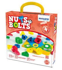 <b>Набор развивающий Винты</b> и гайки Nuts & Bolts в чемоданчике