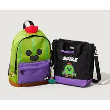 Line Friends X <b>Brawl Stars Spike</b> Backpack with Key Ring & 2Way ...