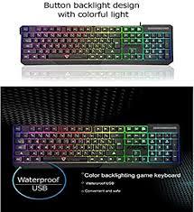 Motospeed K70L Keyboard 7 <b>Colorful</b> LED Backlit Wired Desktop ...