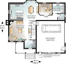 House plan W  V detail from DrummondHousePlans com    st level to bedroom New Traditional house plan  game room  home office