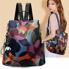 Women <b>Oxford Cloth Backpack Rucksack</b> Anti-theft Daypack Casual ...