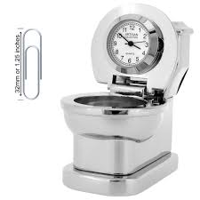 small bathroom clock: click to enlarge cs toilet collectible mini clock gift