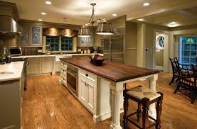 paint kitchen island butcher  lights brushed nickel pendant lamp over kitchen island butcher block