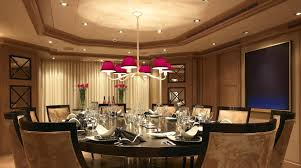 dining room designer furniture exclussive high: contemporary dining room  glamorous modern dining room design with large oval wooden dining table and  piece dining chairs set under modern high ceiling and recessed lights also hanging purple chandelier lighting decoration