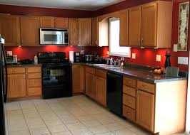 Red Tile Paint For Kitchens 17 Best Images About Kitchens On Pinterest Oak Cabinets Red
