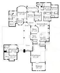 Home Plans With Attached Guest HouseFirst floor plan of florida mediterranean house plan