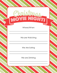 how to plan a christmas movie night printables christmas movie night printable