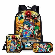 <b>ThiKin 3Pcs</b> Beyblade Burst School Bags <b>Set</b> for Kids Boys School ...