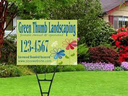 Custom Landscaping Signs Custom Landscaping