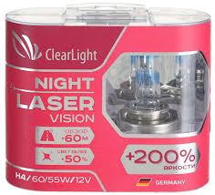 <b>Лампа автомобильная</b> галогенная <b>Clearlight H4</b> 12V-60/55W Night ...