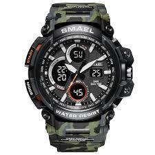 <b>SMAEL Watch Men</b> Sports <b>Watches</b> Dual Display Analog Digital ...