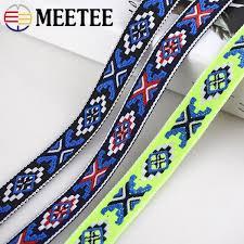 2019 <b>Meetee</b> BD444 <b>2cm Jacquard</b> Embroideried Webbing Ribbons ...