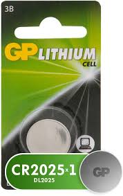 Литиевые <b>батарейки</b> GP 3 Вольта, 1 шт. (<b>CR2025</b>-CR1)