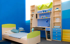 charming kids room applying white wall color furnished with astounding blue and accent single bed completed nightstand desk combined enchanting charming kids desk