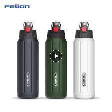 FEIJIAN <b>Shaker</b> Sports Water <b>Bottle</b> Portable 18/10 Stainless Steel ...