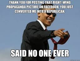 Thank you for posting that right-wing propaganda picture on ... via Relatably.com