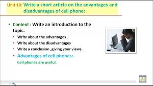 writing b u write a short artical on the advantages and writing b2 u10 write a short artical on the advantages and disadvantages of cell phone