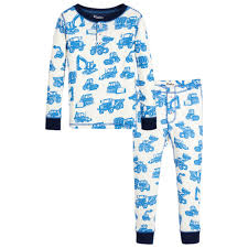 hatley boys digger print pyjamas childrensalon