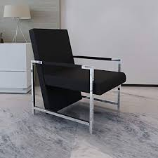 Artificial Leather Armchair Cube Relax Armchair Black ... - Amazon.com