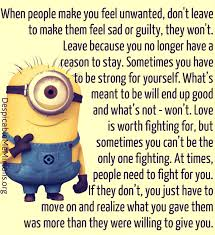When people make you feel unwanted - Minion Quotes via Relatably.com