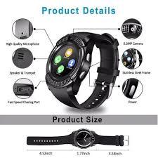 LEEHUR <b>V8 Bluetooth</b> Smart Watch Band <b>Touch</b> Screen Wristband ...