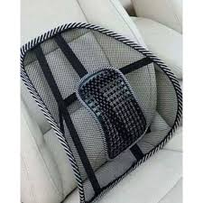 Shop Generic Mesh Lower Back Support <b>Cushion Set</b> - <b>2 Pcs</b> - Black ...