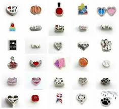 hot <b>10pcs Mixed Style</b> Floating Charms For <b>Glass</b> Living Memory ...