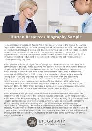 human resources bio writing help resume bio examples