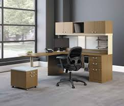 designer office modern desks for small spaces furniture with awesome wooden workbench also storage drawers and amazing gray office furniture