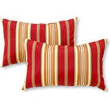 crossman piece outdoor bistro: greendale home fashions rectangle indoor outdoor accent pillows roma stripe set of
