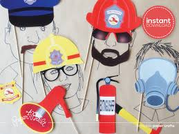 Firefighter Cupcake Decorations Fire Truck Decor Etsy