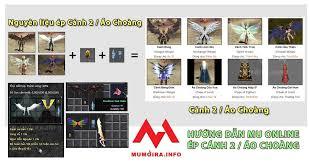Hướng dẫn ép Cánh 2, Áo Choàng, 5 loại dòng Exc Wing 2 Mu Online