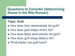 thesis for the kite runner   thesisthesis statement for guilt in the kite runner