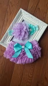 <b>Beautiful Lavender</b> & Aqua Headband and <b>Lace</b> Bloomers Set | Etsy