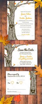 fall wedding invitation psd formats fall autumn wedding invitation set 1
