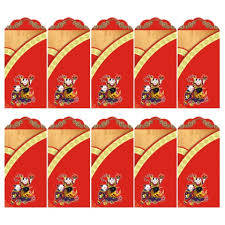 <b>10Pcs</b> Wealth <b>and</b> Fortune Pattern New Year <b>Red</b> Envelopes <b>Red</b> ...