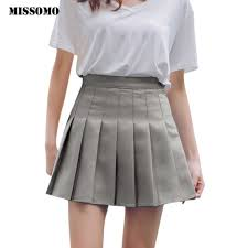 MISSOMO <b>XS XXL</b> skirts <b>womens High</b> Waist Pleated Mini Skirt Slim ...
